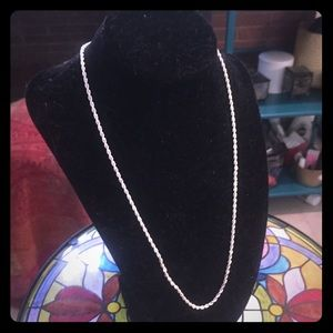 """Italian Rope Chain Necklace Sterling Silver 20""""NEW"""